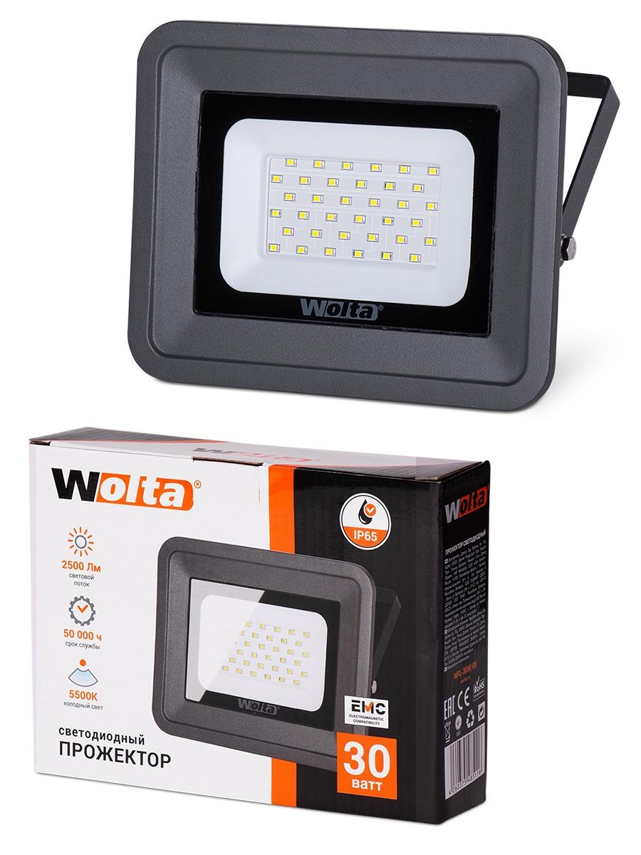 Прожектор WOLTA WFL-30W/06, WFL-30W/06 прожектор wolta wfl 20w 06 20w 180v 5500к smd ip65 grey