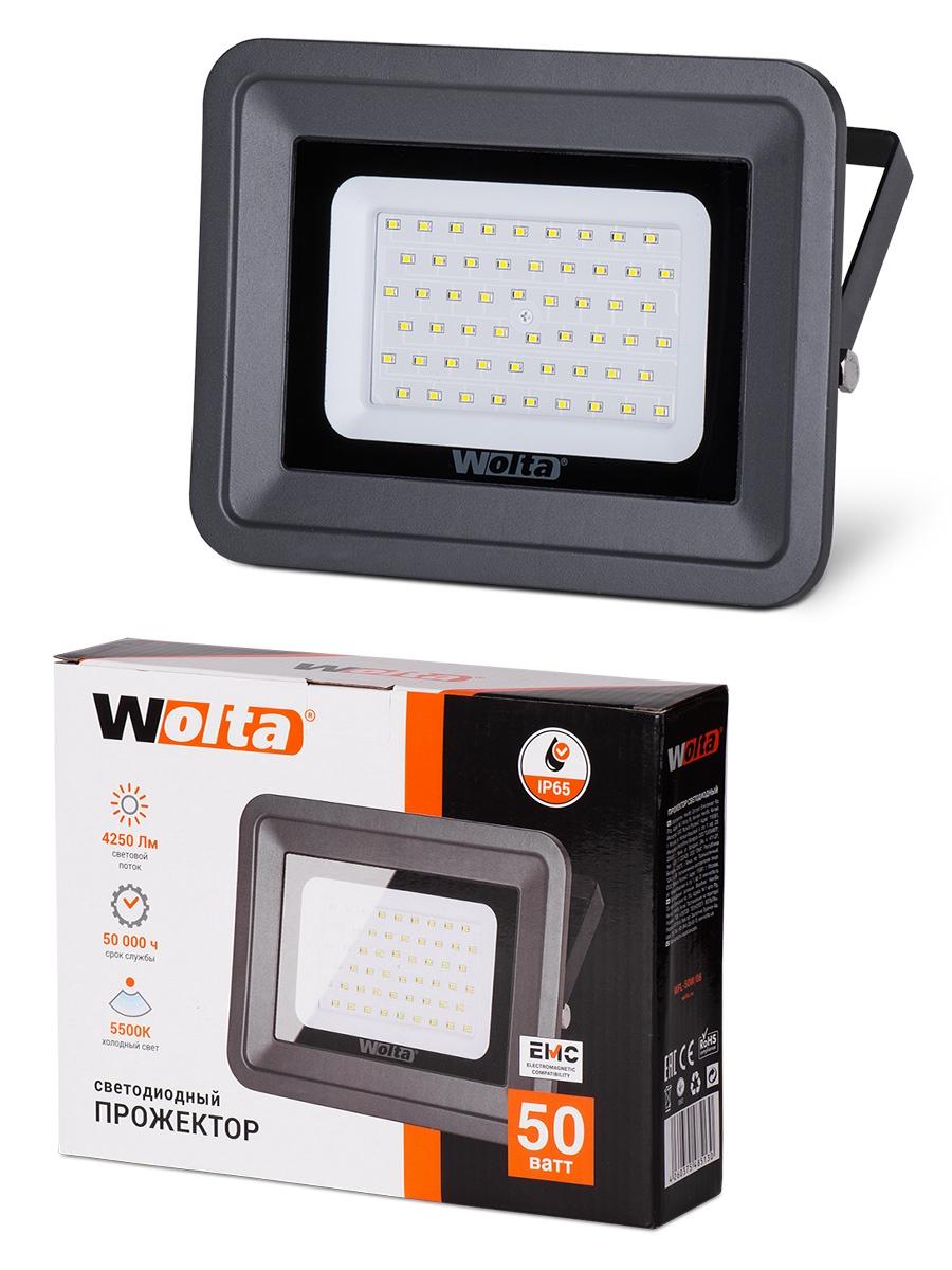 Прожектор WOLTA WFL-50W/06, WFL-50W/06 прожектор wolta wfl 20w 06 20w 180v 5500к smd ip65 grey