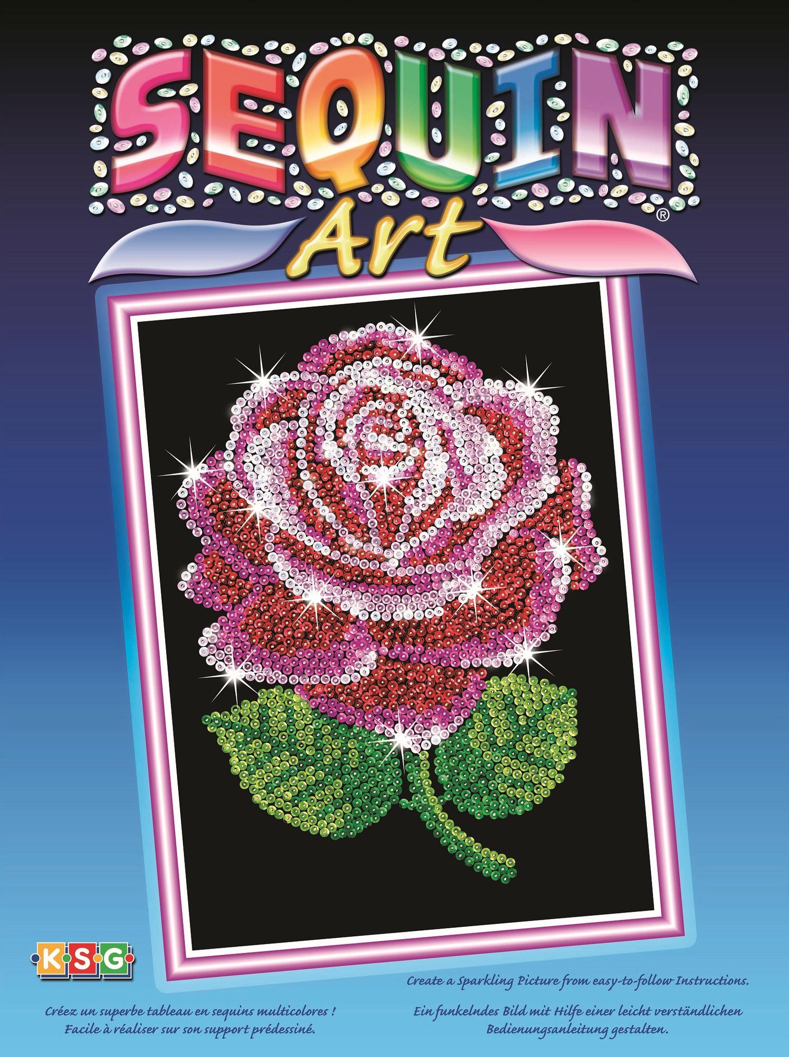Картина из пайеток Sequin Art /KSG Роза