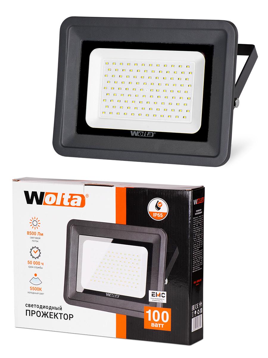 Прожектор WOLTA WFL-100W/06, WFL-100W/06 прожектор wolta wfl 20w 06 20w 180v 5500к smd ip65 grey