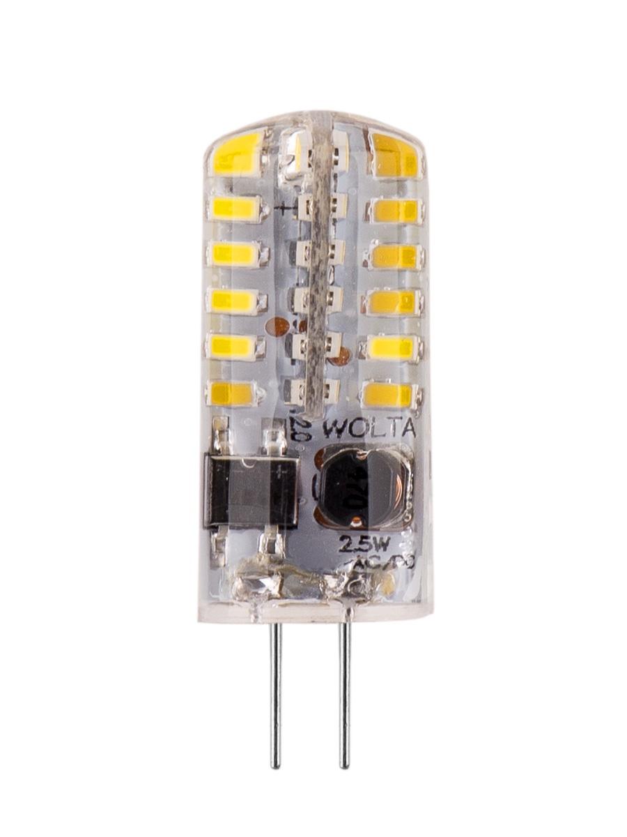 Лампочка Wolta 25SJC-12-2.5G4, 2,6W, G4, Дневной, Дневной свет 2,6 Вт, Светодиодная
