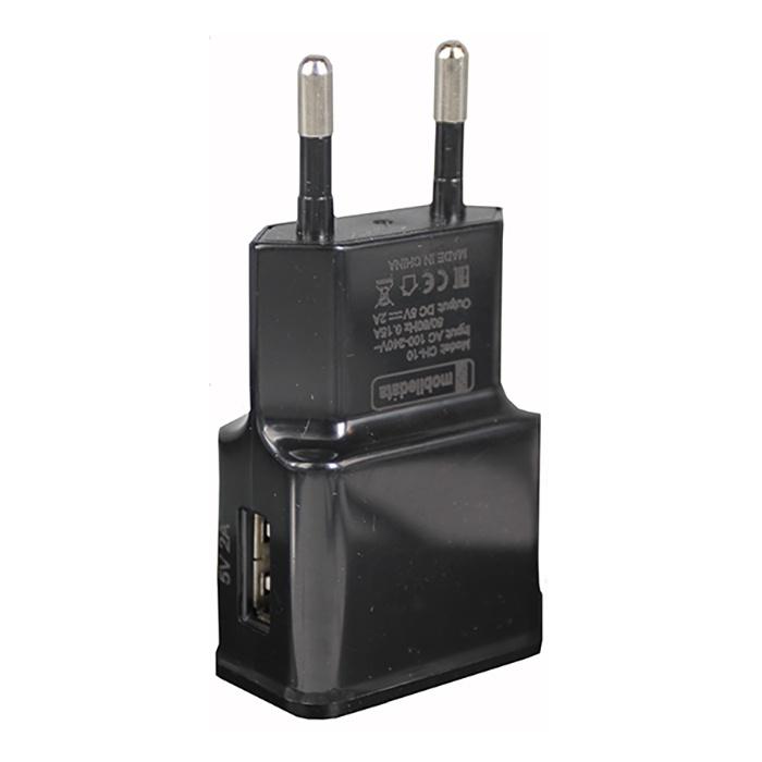 Зарядное устройство Mobiledata Сетевой адаптер 1000mA, черный сетевой адаптер питания lp с usb выходом