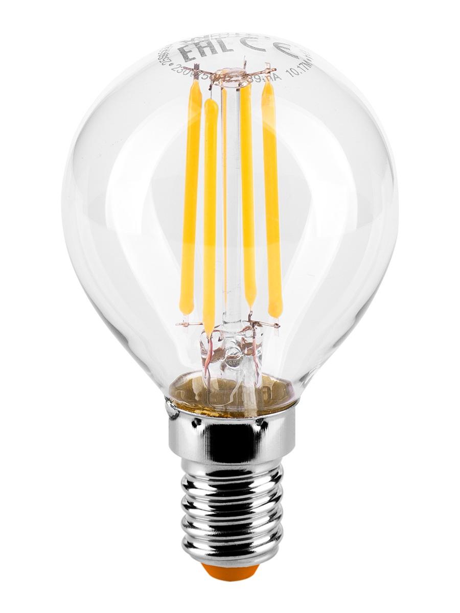купить Лампочка Wolta 25Y45GLFT7E14, 7W, E14, Теплый, Теплый свет 7 Вт, Светодиодная по цене 170 рублей
