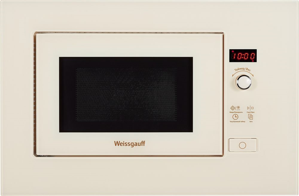 Встраиваемая микроволновая печь Weissgauff HMT 203, бежевый