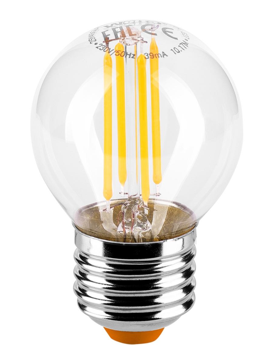 Лампочка Wolta 25Y45GLFT7E27, 7W, E27, Теплый, Теплый свет 7 Вт, Светодиодная светодиодная лампа kosmos теплый свет цоколь e27 7w 220v lksm led7wr63e2730