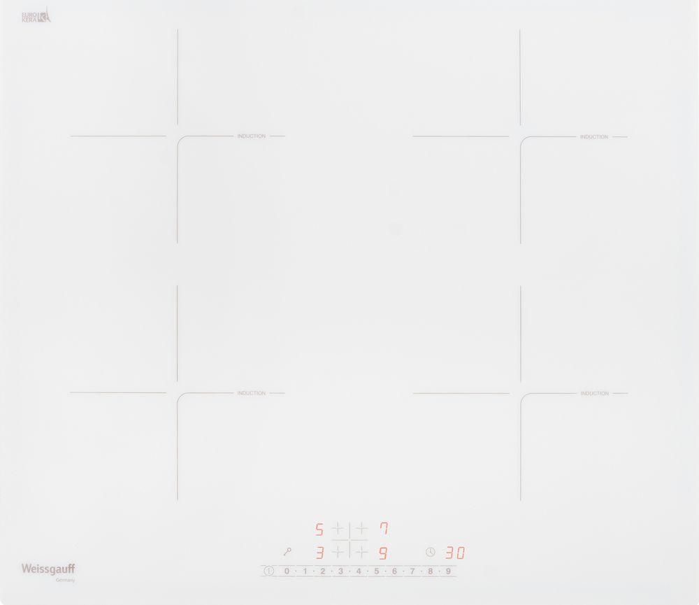 Варочная панель Weissgauff HI 640 WS, 418944, белый