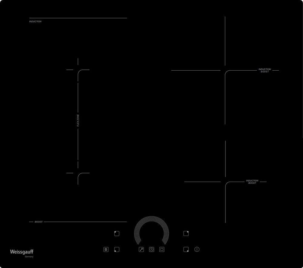 Варочная панель Weissgauff HI 643 BFZ, 417304, черный