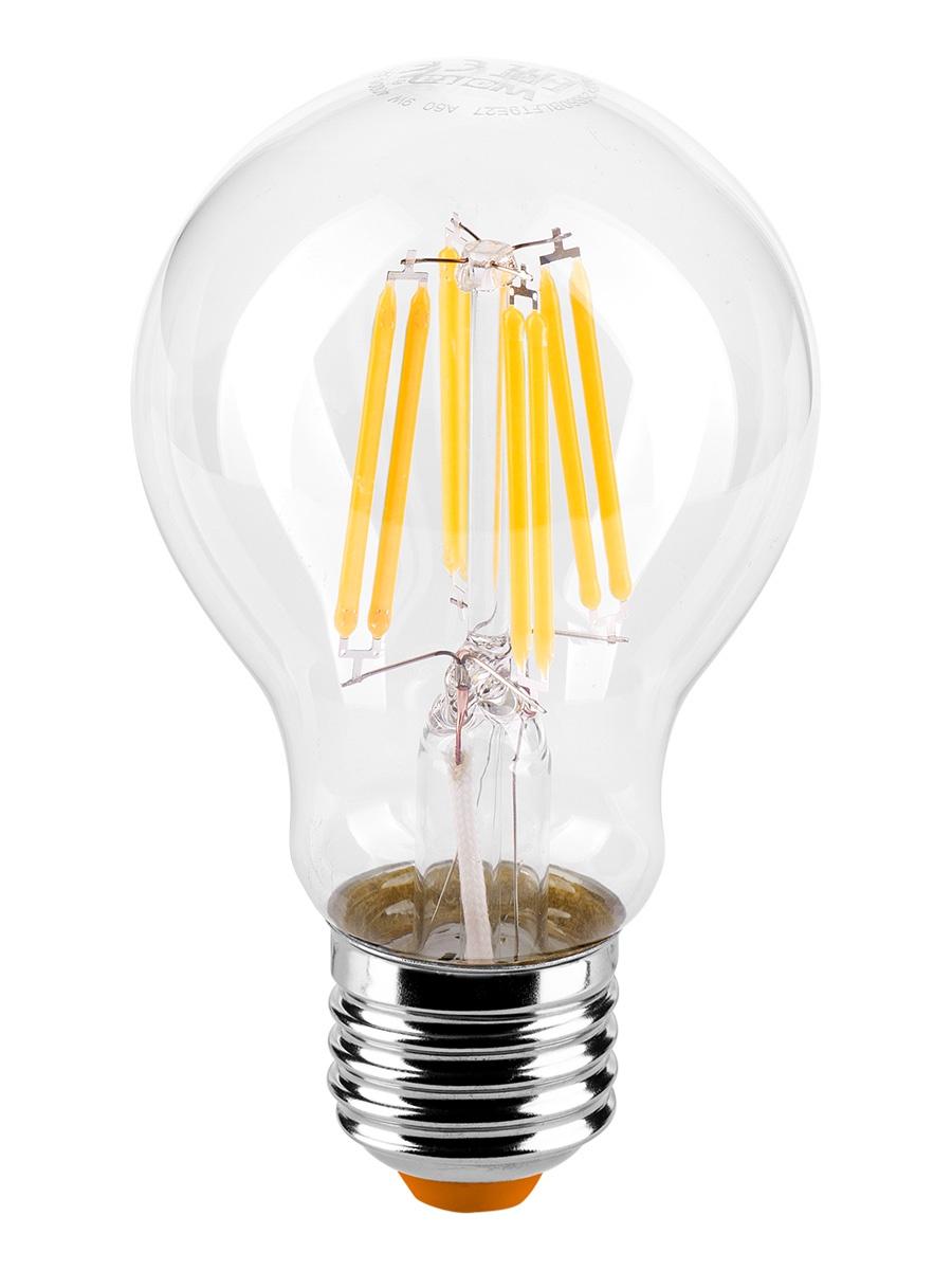 Лампочка Wolta 25Y60BLFT9E27, 9W, E27, Теплый, Теплый свет 9 Вт, Светодиодная лампа светодиодная rev deco premium filament a60 32475 1 теплый свет цоколь e27 9 вт
