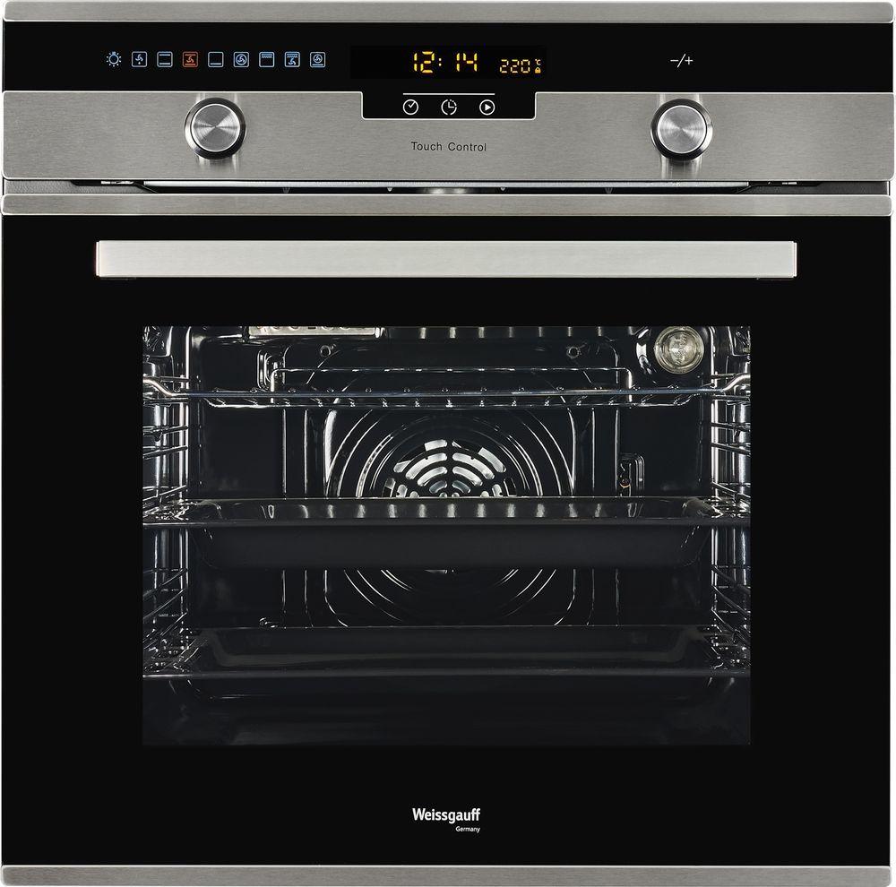 Духовой шкаф Weissgauff EOA 691 PDX, 410673, черный, серебристый weissgauff eom 28 pdx