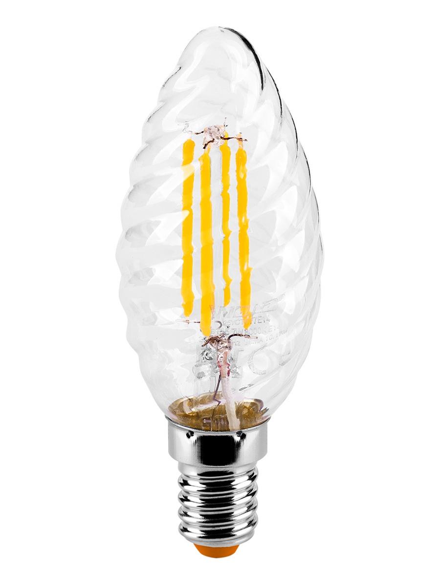 Лампочка Wolta 25YCTFT7E14, 7W, E14, Теплый, Теплый свет 7 Вт, Светодиодная лампа светодиодная эра clear цоколь e14 170 265v 7w 2700к bxs 7w 827 e14 clear
