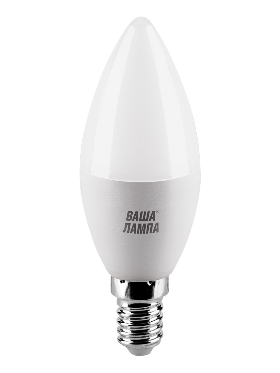 Лампочка ВАША ЛАМПА 25WC7.5E14-P, 7,5W, E14, Холодный