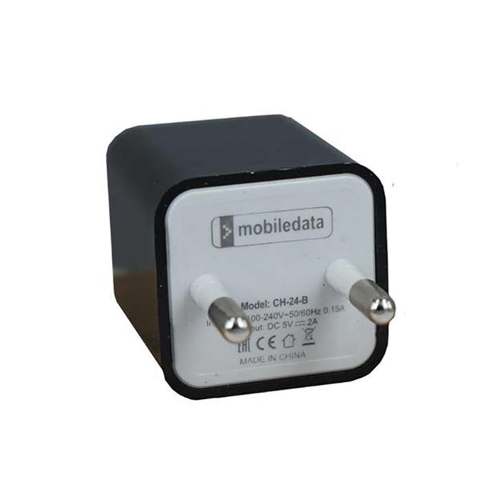 Зарядное устройство Mobiledata Сетевой адаптер 2000mA, 2 USB, черный сетевой адаптер питания lp с usb выходом