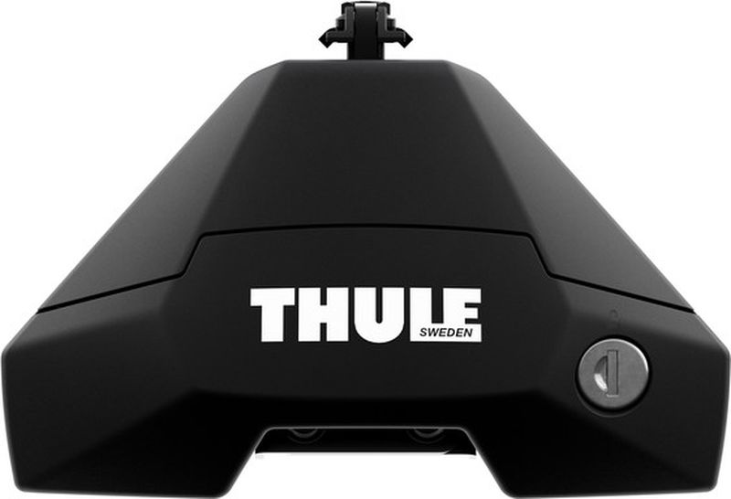 Опоры для багажника Thule Evo, с замками, для автомобилей с гладкой крышей, 710500, черный, нагрузка 75 кг ключ thule 152