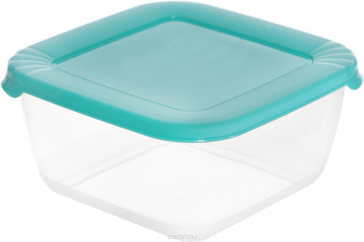 Контейнер пищевой Полимербыт квадратный для СВЧ голубой, 546/голубой, прозрачный аптечка полимербыт 6 5 л с вкладышем