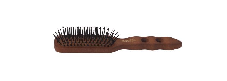 Щетка для волос DEWAL с нейлоновым штифтом, прямоугольная 1 щетка массажная dewal