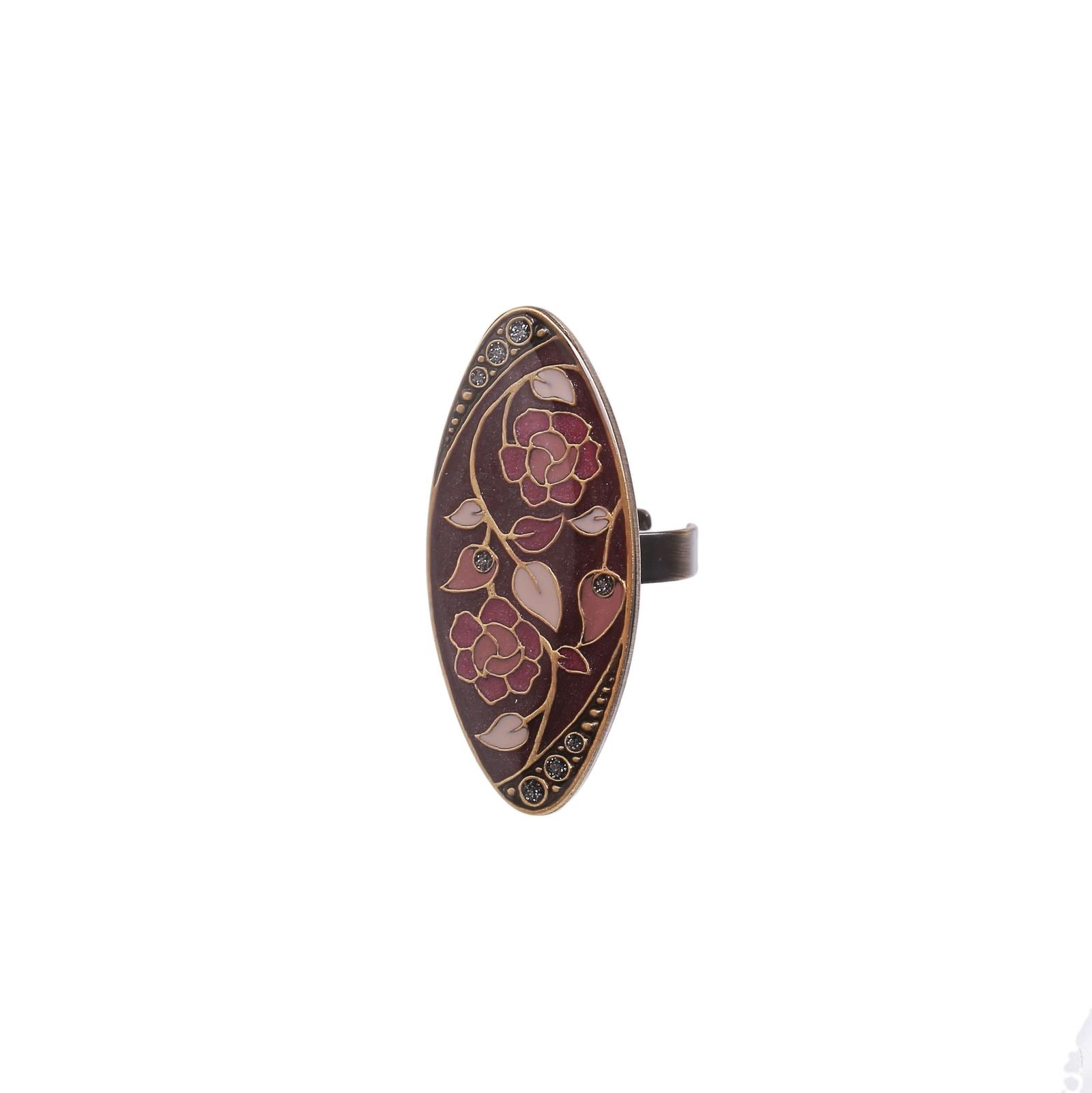 Кольцо бижутерное Clara Bijoux безразмерное, Гипоаллергенный сплав, Эмаль, Безразмерное, бежевый, розовый, фиолетовыйK77113-3 VВ изготовлении бижутерии используются гипоаллергенные материалы и горячая эмаль. Кольцо безразмерное, поэтому его можно регулировать под размер пальца.
