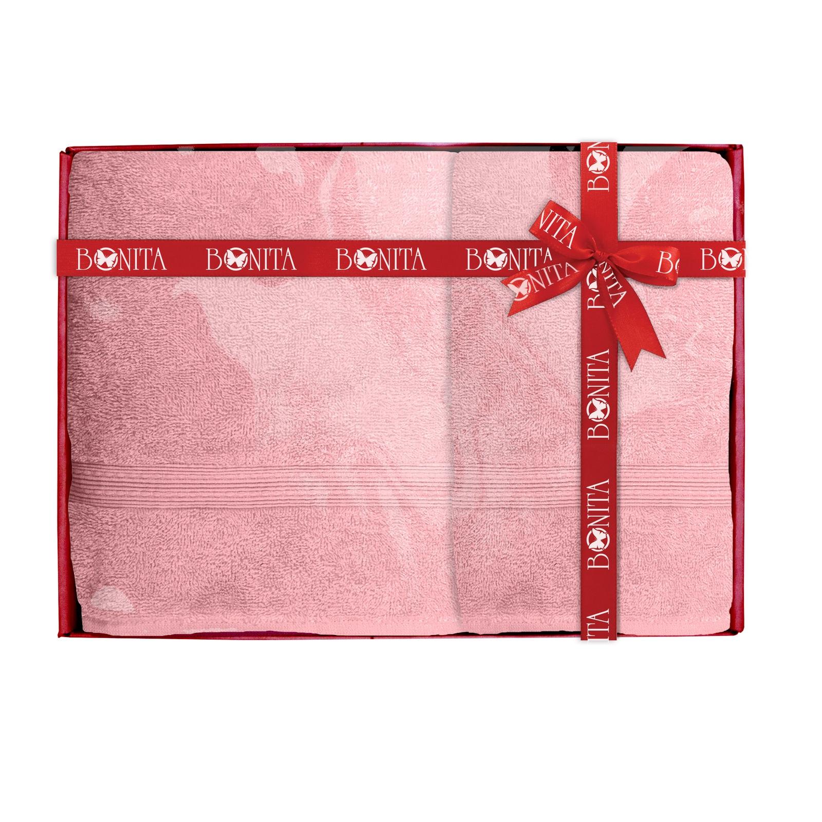 Набор банных полотенец Bonita Пудровый, 21010118684, розовый цена и фото