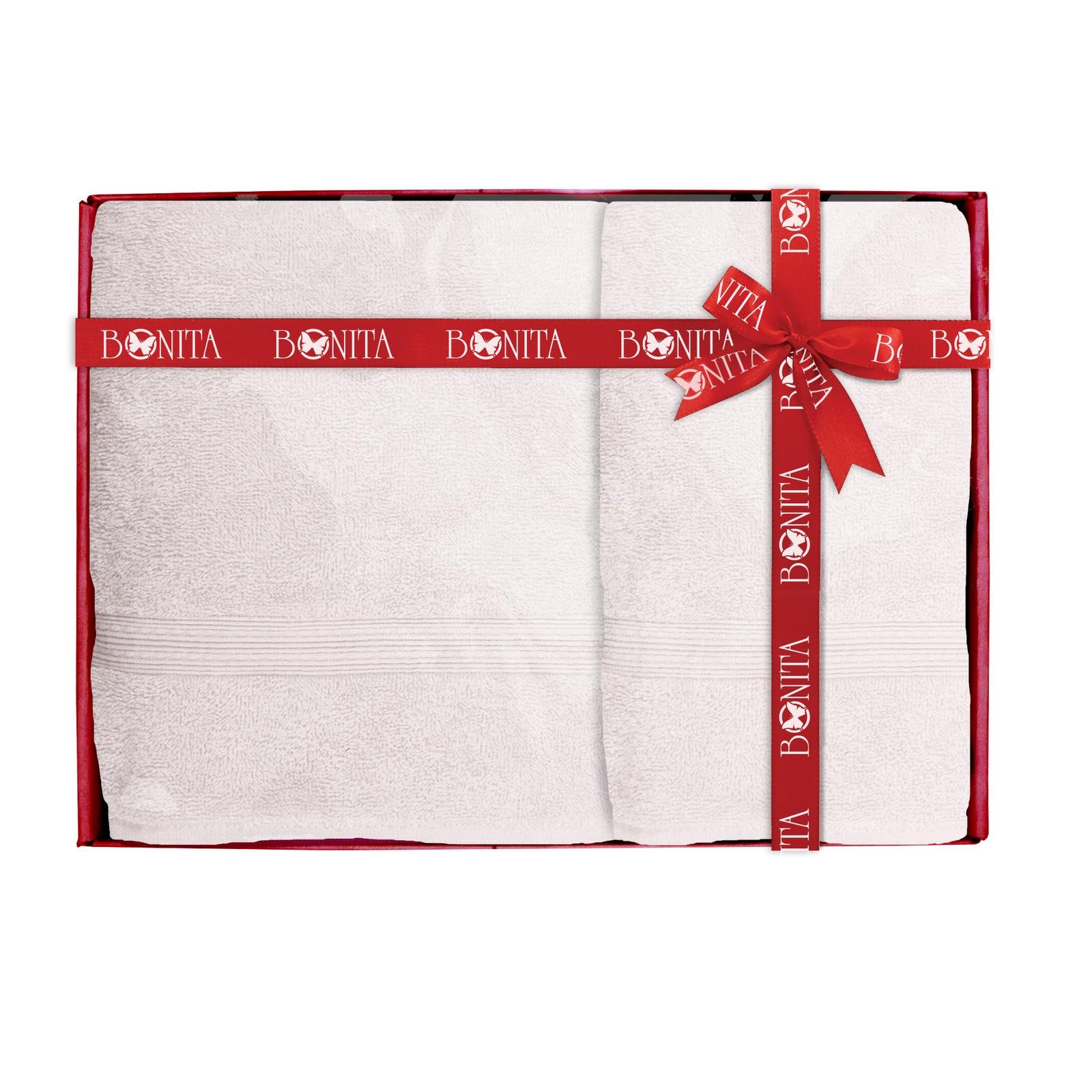 Набор банных полотенец Bonita Классик, 21010118680, светло-коричневый набор банных полотенец bonita classic цвет светло бежевый 70 х 140 см 2 шт