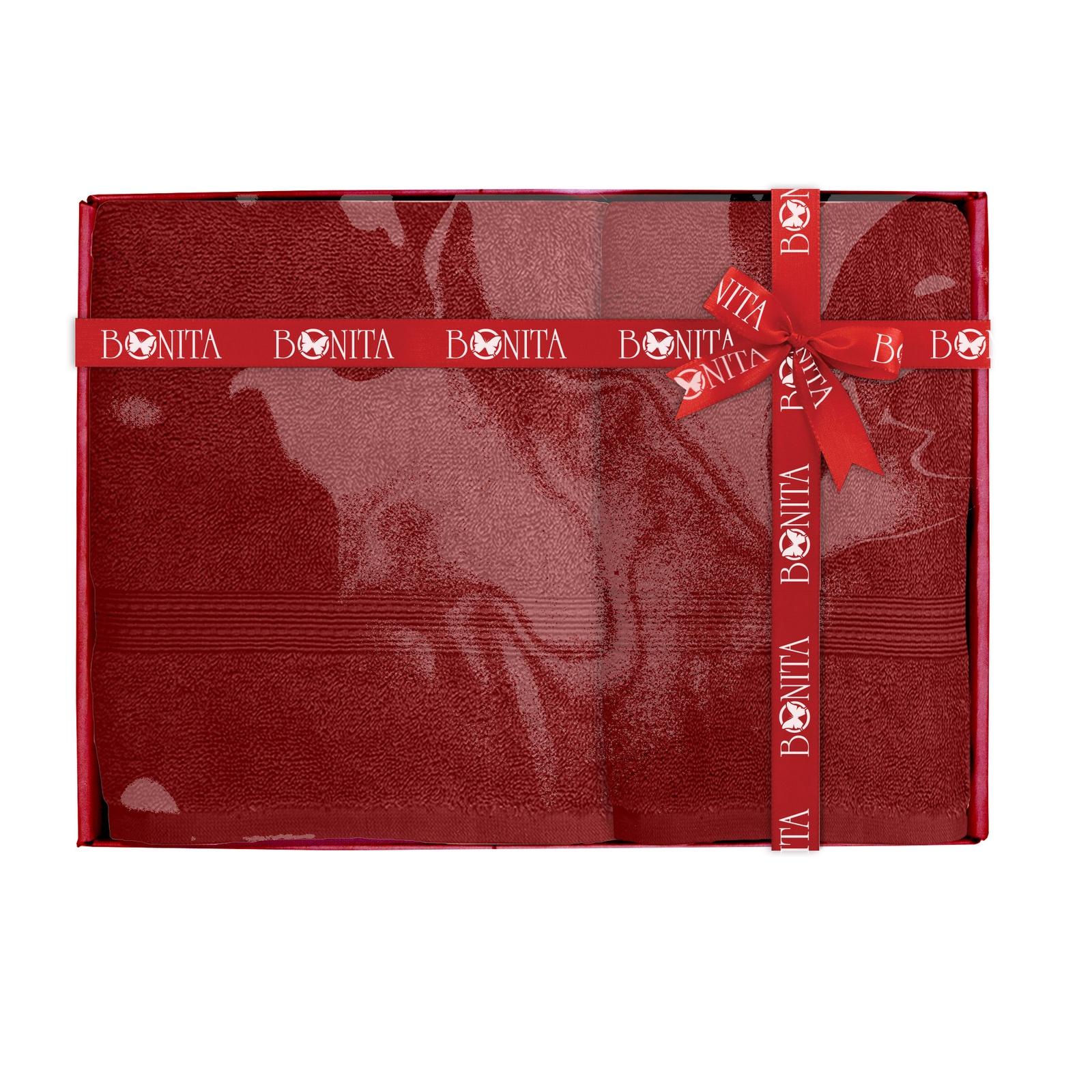 Набор банных полотенец Bonita Классик, 21010118681, бордовый цена и фото
