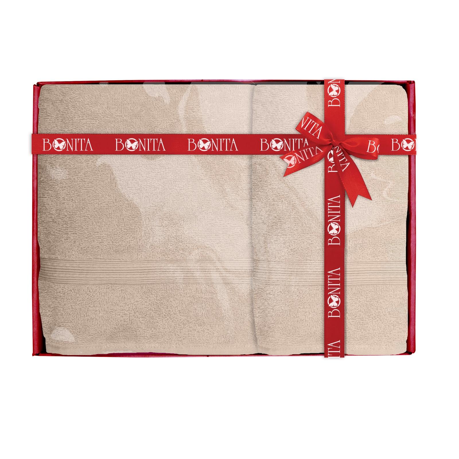 Набор банных полотенец Bonita Классик, 21010118682, бежевый цена и фото