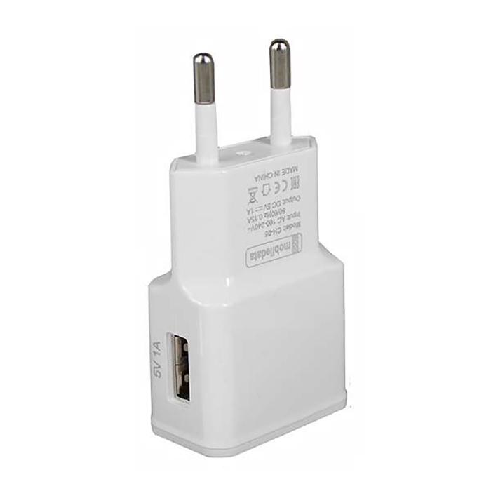 Зарядное устройство Mobiledata Сетевой адаптер 1000mA, белый сетевой адаптер питания lp с usb выходом