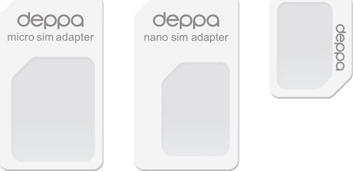 Deppa 74000 адаптер для Sim-карт адаптер для sim карты oem 3pcs 3 1 sim sim sim iphone 6 sim y70 da1174 m5 sim card adapter