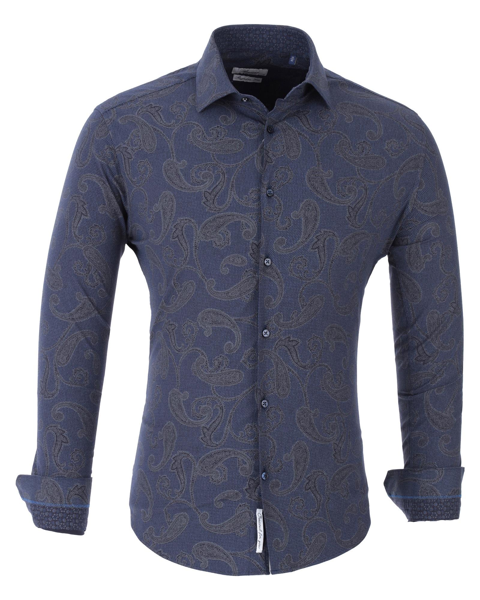 Рубашка Bawer Р-7007-02_XL, темно-синий 52, 54 размерР-7007-02_LМужская рубашка Bawer выполнена из высококачественного хлопка. Силуэт Slim Fit - плотно сидит по фигуре. Лучше всего подходят для стандартного или худощавого телосложения. Подчёркивает фигуру. Рубашка с отложным воротником и длинными рукавами застегивается на пуговицы.