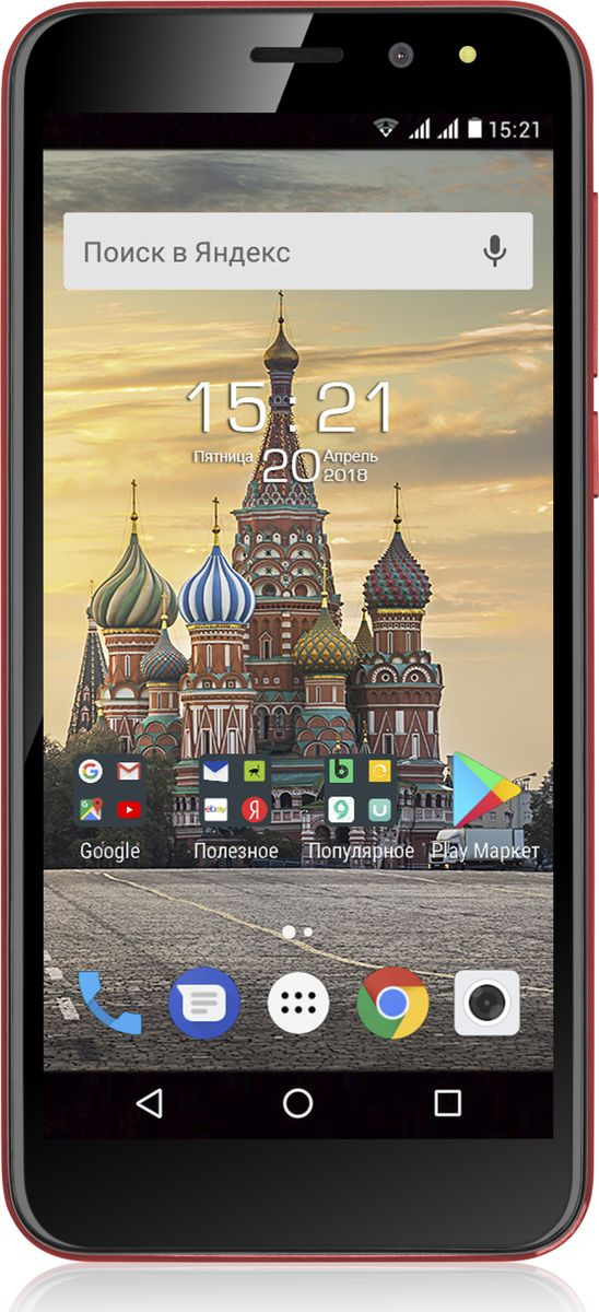Смартфон Fly Life Compact 4G 1/8GB red jyss red версия android