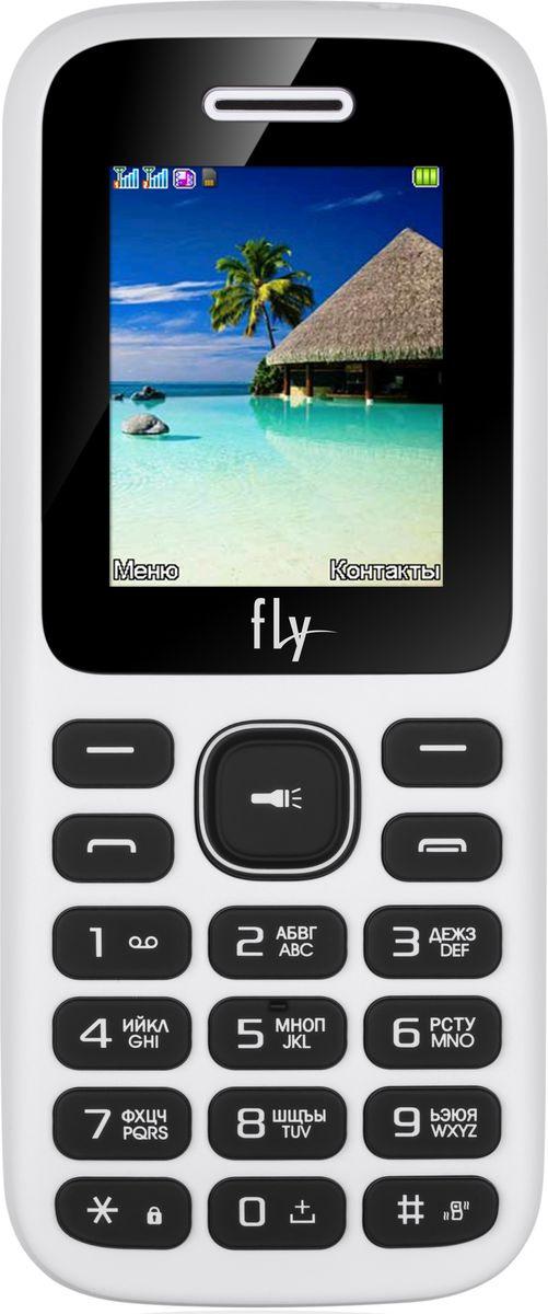 Мобильный телефон Fly FF188, white мобильный телефон fly flip red