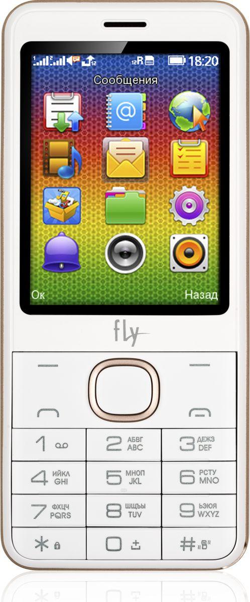 Мобильный телефон Fly FF2801, бежевый мобильный телефон fly flip red
