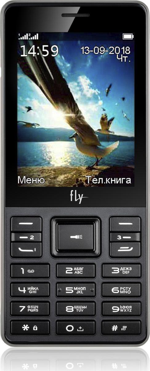 Мобильный телефон Fly TS114, черный мобильный телефон fly flip red
