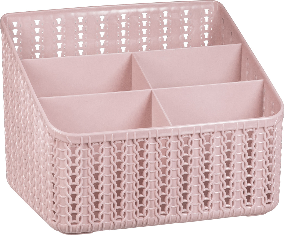 Органайзер Idea Вязание, 5 секций, М 2383, 14 х 18,5 х 14 см, чайная роза органайзер кухонный idea цвет салатовый 19 х 25 х 14 5 см