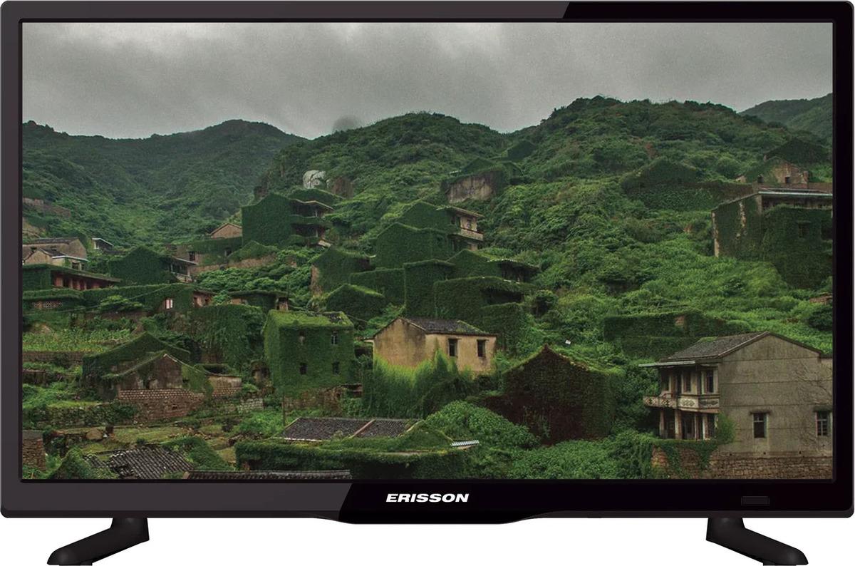 Телевизор Erisson 24, черный телевизор жк erisson 32lea17t2s 32сереб