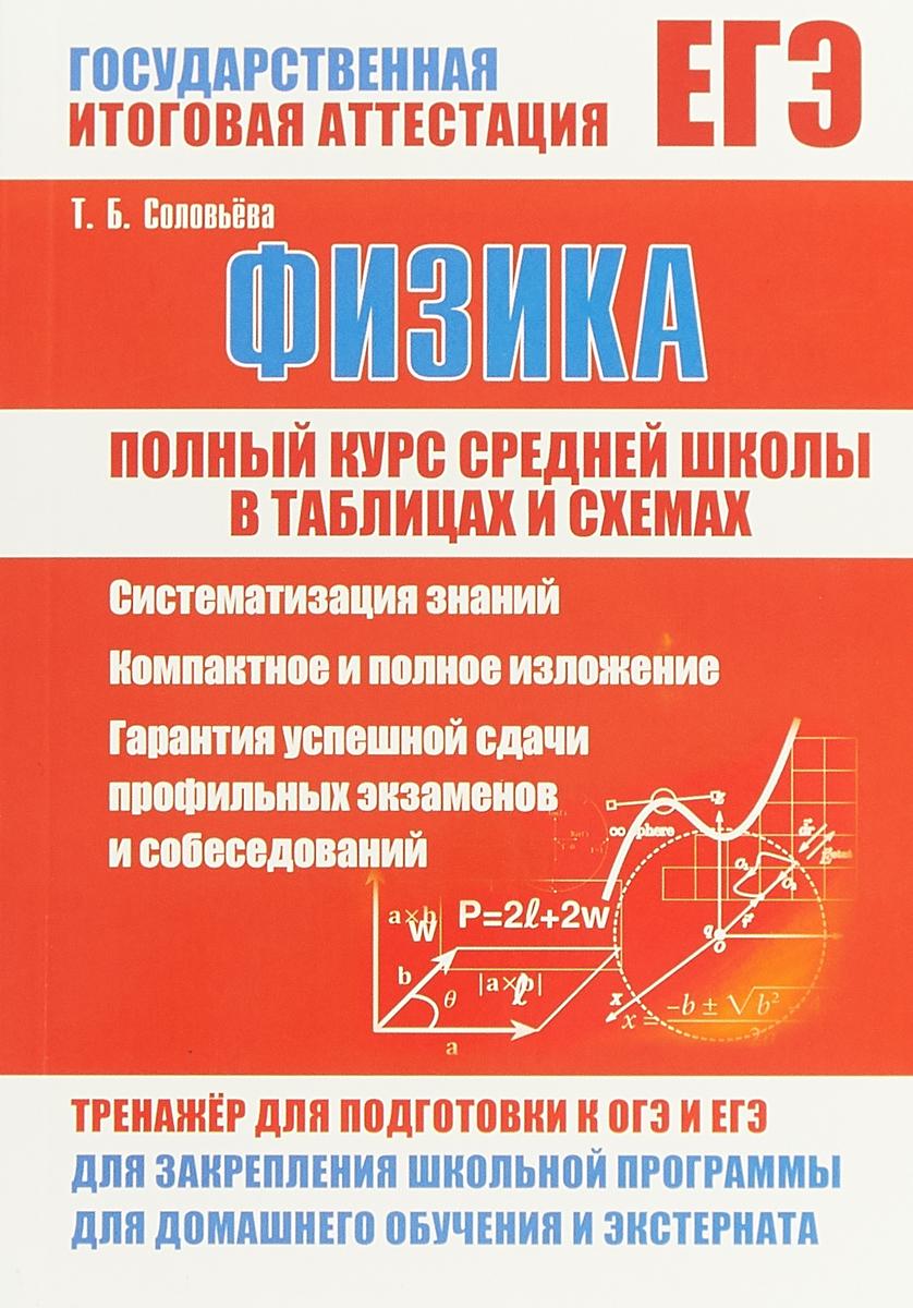 Т. Б. Соловьева ЕГЭ. Физика. Полный курс средней школы в таблицах и схемах