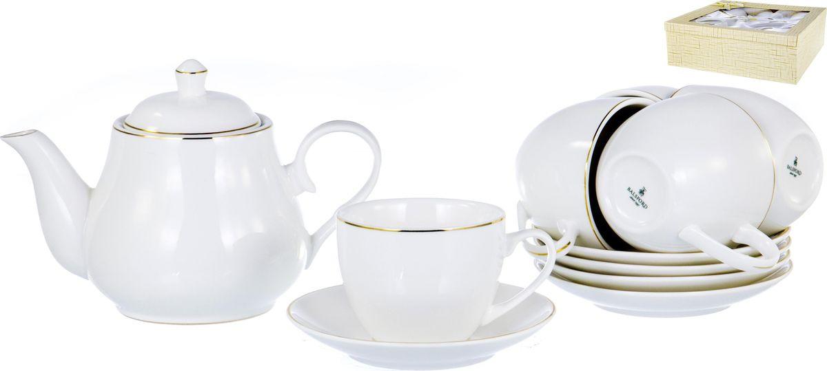 Набор чайный Balsford Грация, 101-01022, белый, золотой, 13 предметов набор чайный 2 пр цветочная грация 250 мл под уп 1021433