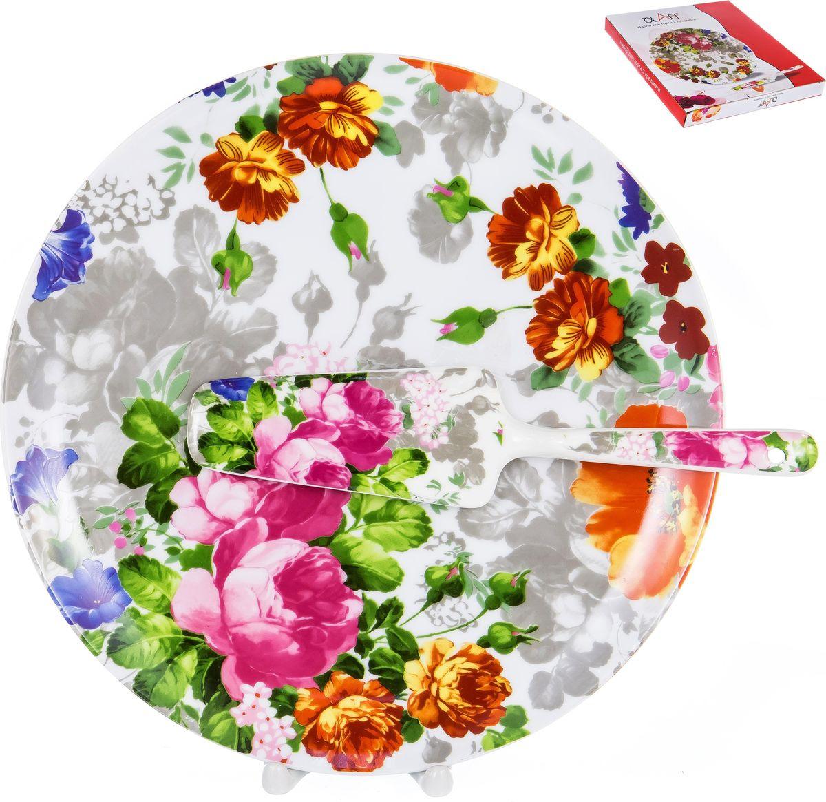 Набор для торта Olaff Флора Цветение, 124-01090, 2 предмета фруктовница olaff cake stand 2 ярусная dl fsp2f 223