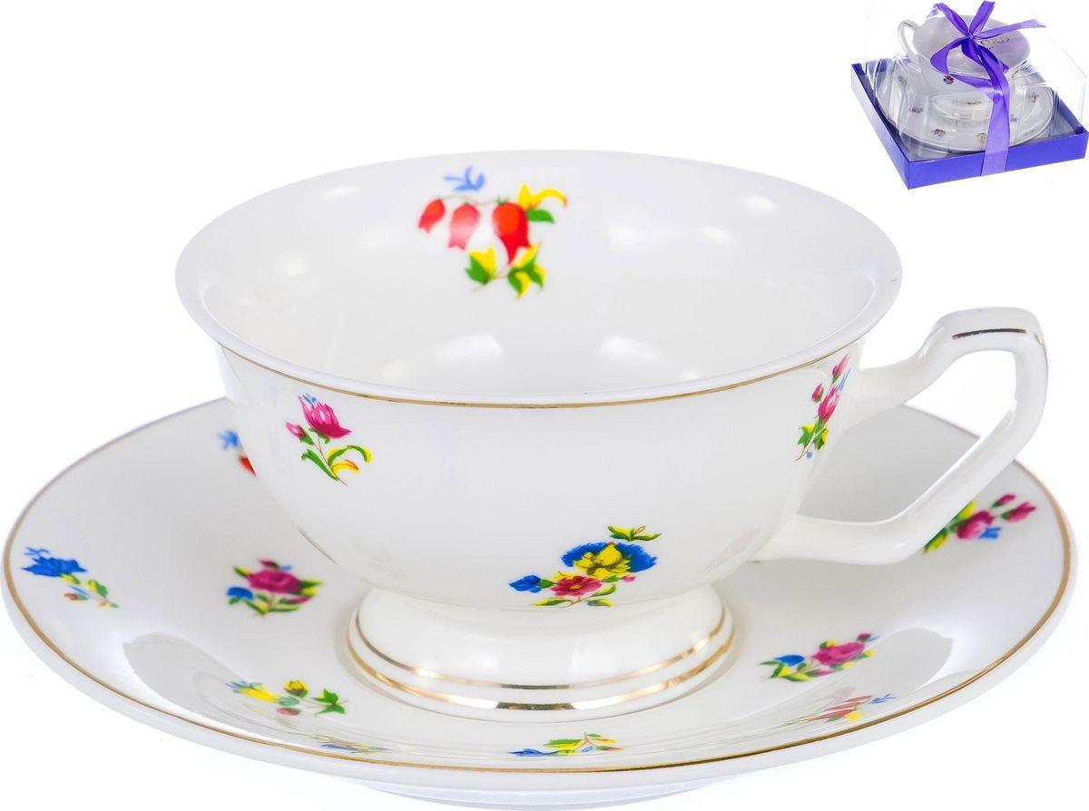 цена на Чайная пара Balsford Цецера, цвет: белый, 2 предмета. 108-04020