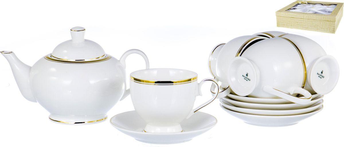 Набор чайный Balsford Грация, 101-01023, белый, золотой, 13 предметов набор чайный 2 пр цветочная грация 250 мл под уп 1021433