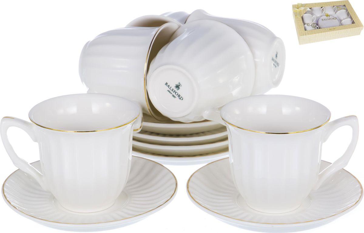 Набор кофейный Balsford Грация, 101-01009, белый, золотой, 12 шт кофейный набор сакура 130 мл 12 предметов с ложками в подарочной упаковке 730439
