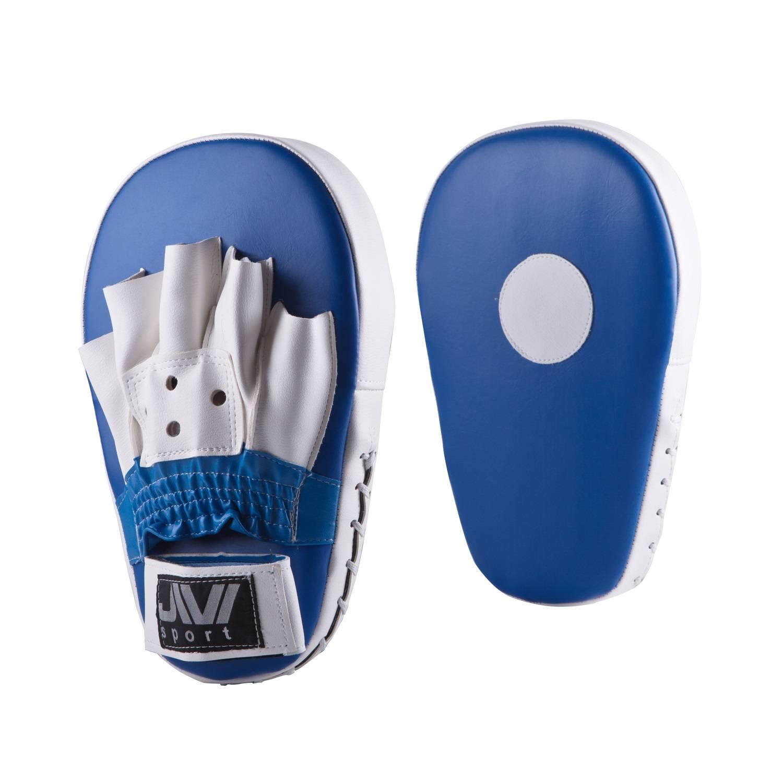 Лапы боксерские Jivi Sport Е047, Е047 -1, белый, синий лапы боксерские jivisport прямые е049