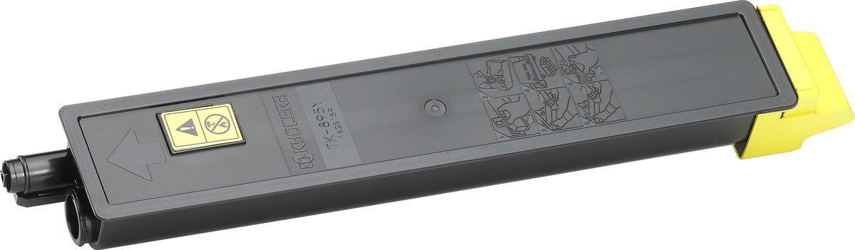 Картридж Kyocera TK-895Y, желтый, для лазерного принтера картридж kyocera tk 895y yellow для fs c8020 c8025 6000стр