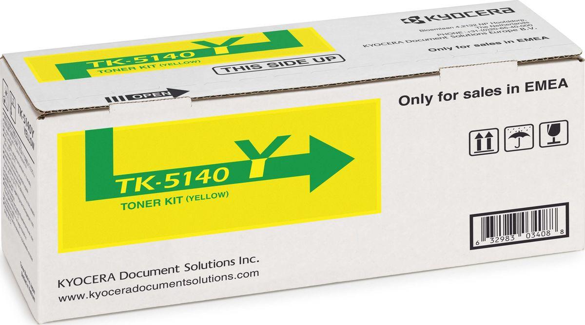 Картридж Kyocera TK-5140Y, желтый, для лазерного принтера картридж sakura tk 590c 5000 стр
