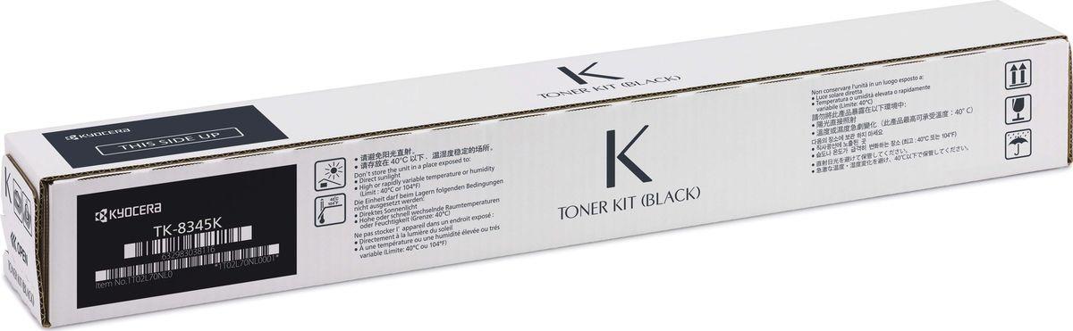 Картридж Kyocera TK-8345K для Kyocera TASKalfa 2552ci черный 20000стр картридж kyocera tk 560y 1t02hnaeu0