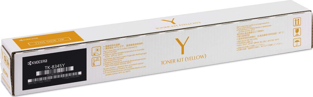 Картридж Kyocera TK-8345Y для Kyocera TASKalfa 2552ci желтый 12000стр картридж kyocera tk 8345k для kyocera taskalfa 2552ci черный 20000стр