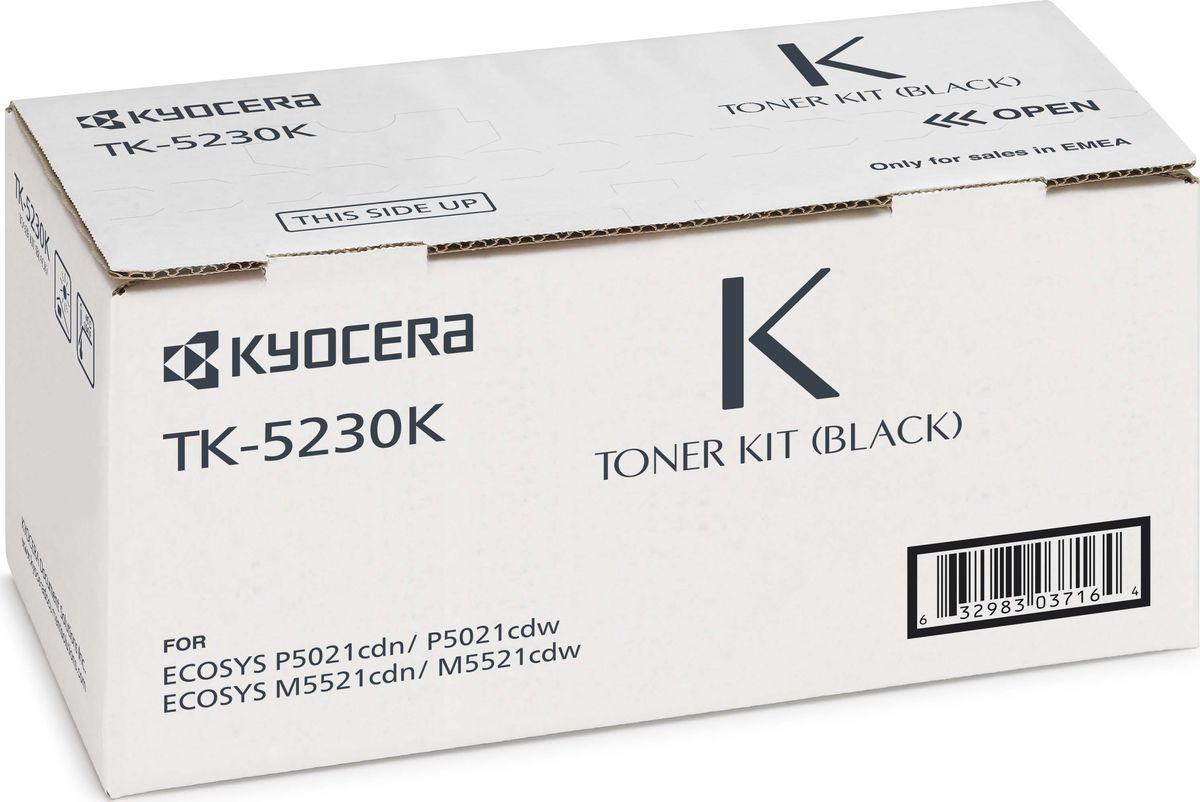 Тонер-картридж Kyocera TK-5230K для P5021cdn/cdw, M5521cdn/cdw, 1T02R90NL0, black