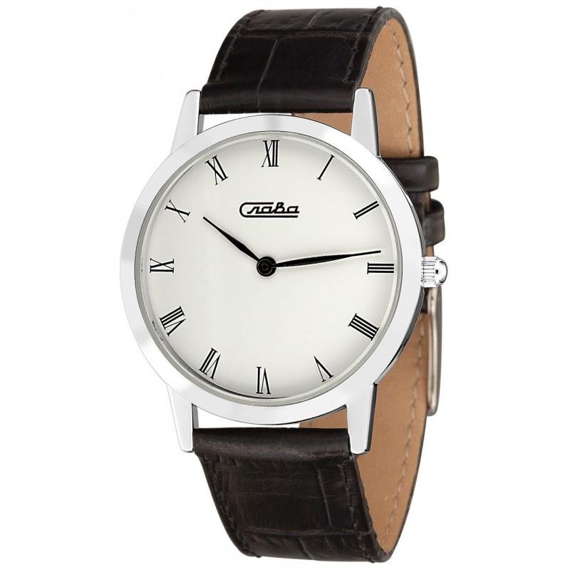 Часы Слава Слава, 0081928/300-2025, белый, серебристый все цены
