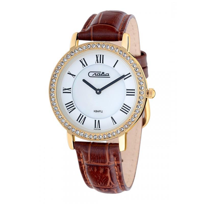 Часы Слава Инстинкт, 6233485/2025, белый, золотой все цены