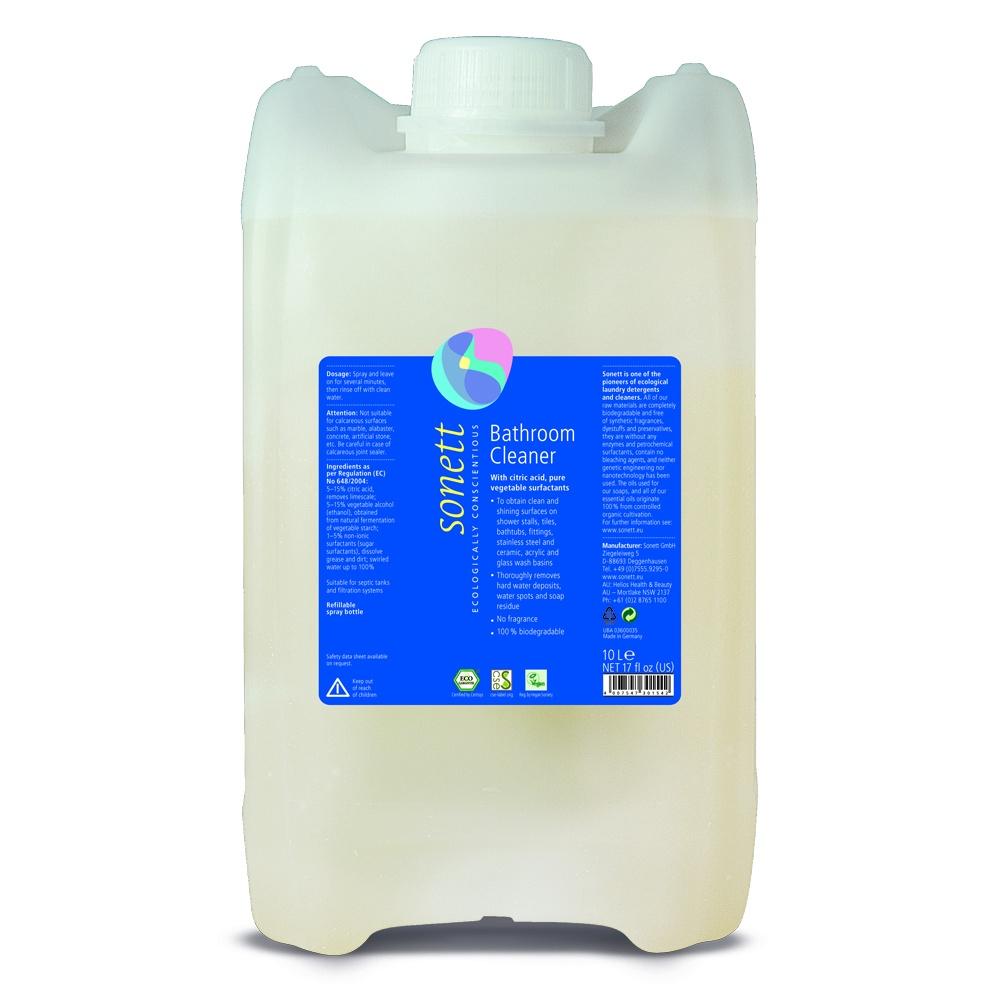 Средство для ванной и туалета Sonett Средство для чистки ванной комнаты, с цитрусовой кислотой, для удаления известкового налета. Экологически чистое, органическое. 10л