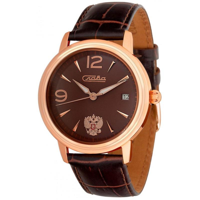 Часы Слава Традиция, 1473849/300-2414, коричневый, золотой все цены