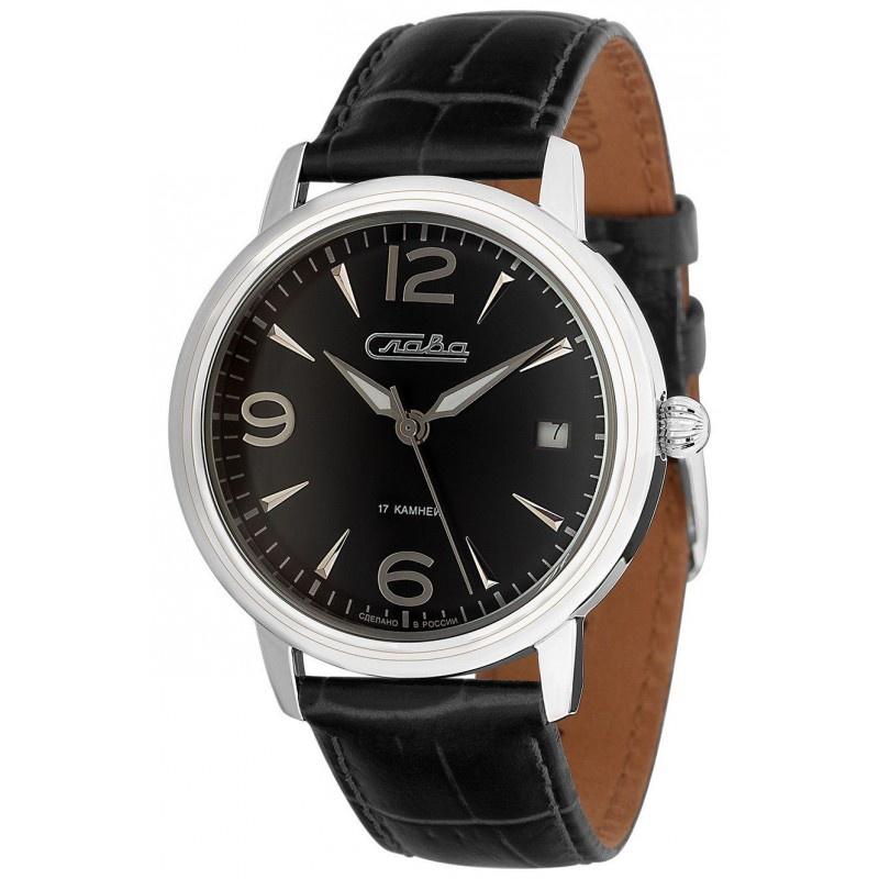 Часы Слава Традиция, 1470847/300-2414, черный, серебристый все цены